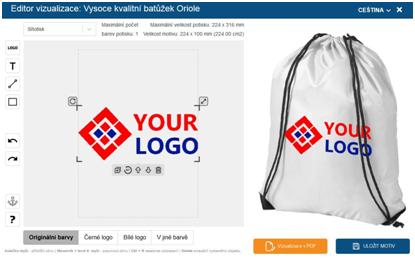 online editor vizualizace loga
